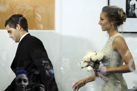 Fernando Gago y Gisela Dulko. I Efe