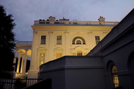 Vista de la Casa Blanca en Washington este viernes 29 de julio.   Efe