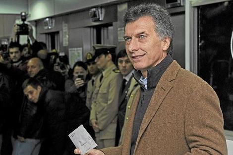 Macri al momento de votar en Buenos Aires. | AFP
