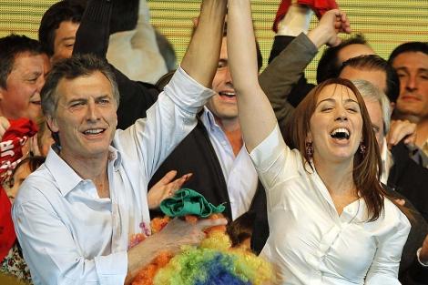 El alcalde de Buenos Aires, Mauricio Macri, y su vicealcalde, María Eugenia Vidal. | Efe