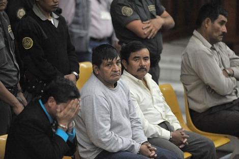 Carlos Antonio Carias Lopez, Daniel Martinez Martinez, Reyes Collin Gualip y Manuel Pop. | AP