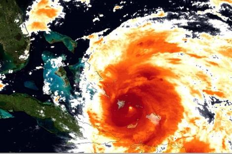 Imagen satelital del huracán 'Irene' en su avance por Bahamas. | AP