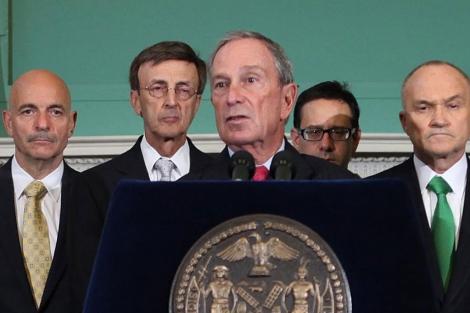 El alcalde de Nueva York, Michael Bloomberg, durante una conferencia este jueves. | AP
