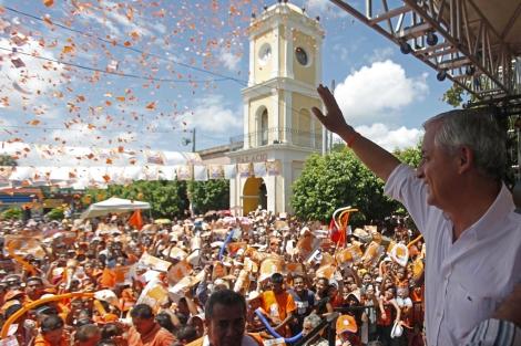 Otto Pérez Molina, en un acto de campaña en Asunción Mita (Guatemala). | M. C.