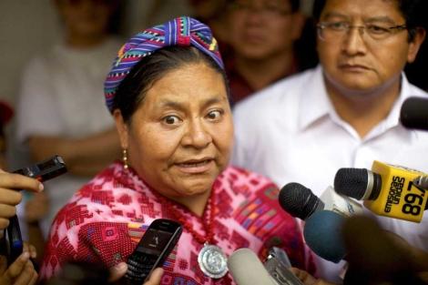 La candidata presidencial y Premio Nobel de la Paz, Rigoberta Menchú. | Efe