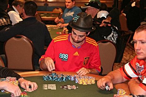 David Galo (c) durante las Series Mundiales de Las Vegas.   F.M