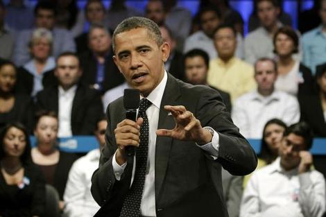 El presidente Barack Obama durante su discurso en LinkedIn. | AP