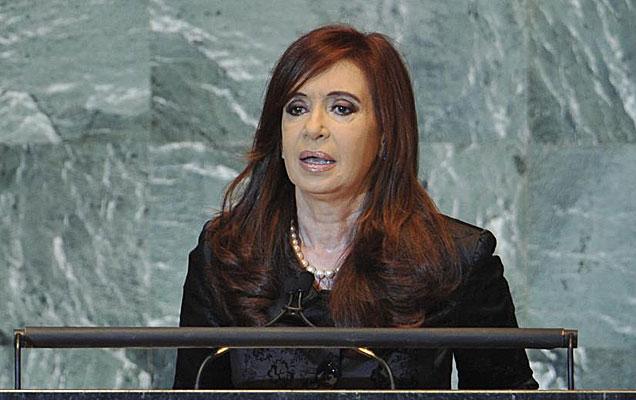 La presidenta Cristina Fernández durante su discurso ante la ONU. | Efe