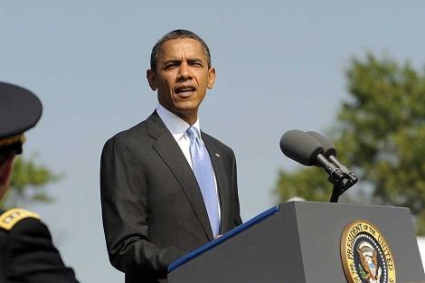 Obama pronuncia un discurso en Fort Meyer, Virginia| Efe