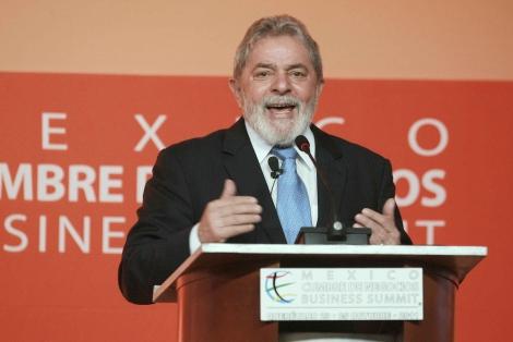 El ex presidente brasileño, hace unos días en México.   Efe