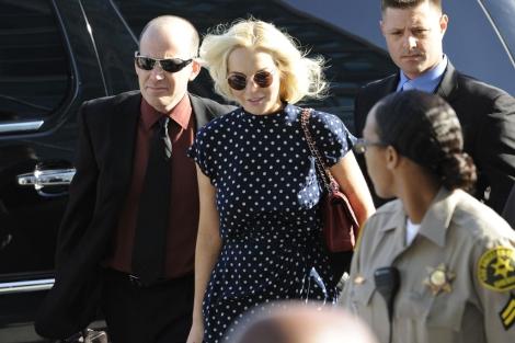 Lindsay Lohan a su llegada a los juzgados. | Gtres