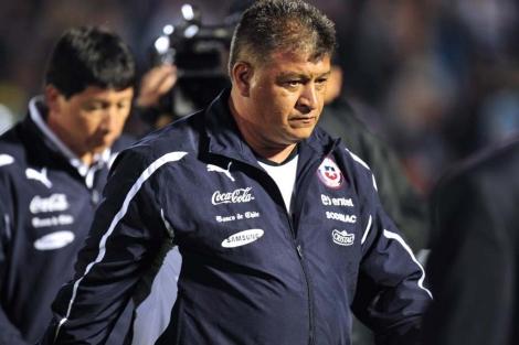 Claudio Borghi durante el partido con Montevideo. | AFP