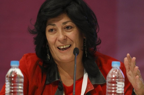 Almudena Grandes durante la XXV Feria Internacional del Libro de Guadalajara. | Efe