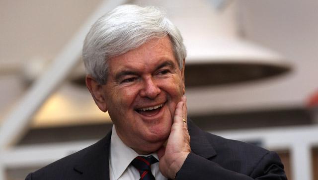 Newt Gingrich durante las primarias.| John Moore/Afp