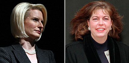 Callista Gingrich (i) y Marianne Ginther.