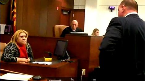 Imagen del juicio a Alejandrina Cabrera en Arizona. | Yuma Sun