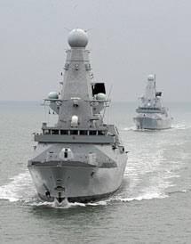 El buque británico.| Efe