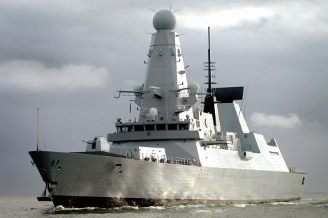El navío británico que se dirige a Malvinas.  Reuters
