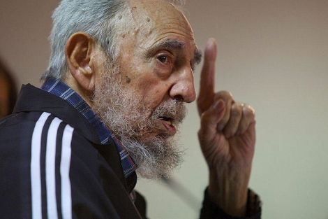 Fidel Castro, en la presentación. | Efe