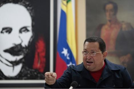 Chávez, durante la grabación del programa. | Efe