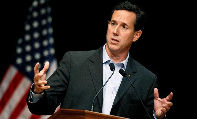 Rick Santorum, durante un discurso.  Afp