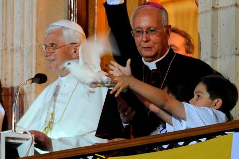 El Papa, en un acto en Guanajuato.   Efe
