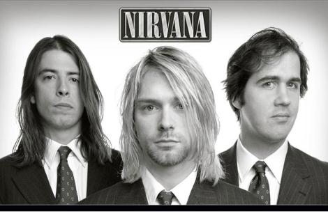 Kurt Cobain, en el centro, junto al resto de 'Nirvana'.| El Mundo