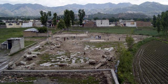 Terreno donde se encontraba el complejo en el que fue abatido Bin Laden, en Abbottabab (Pakistán). | Efe