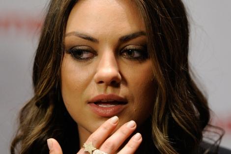 La actriz Mila Kunis en una imagen del pasado mes de abril. | Afp
