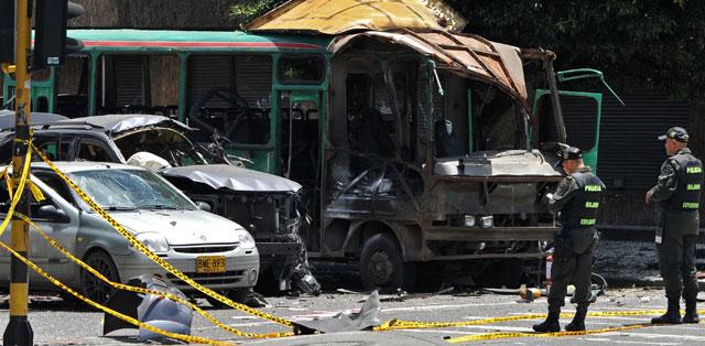 Imagen del lugar del atentado el pasado 15 de mayo.   Afp