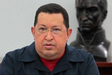 El mandatario venezolano, Hugo Chávez, en el Palacio de Miraflores. | Efe