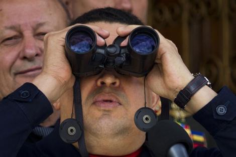 Hugo Chávez, en su aparición pública del pasado sábado. | Reuters