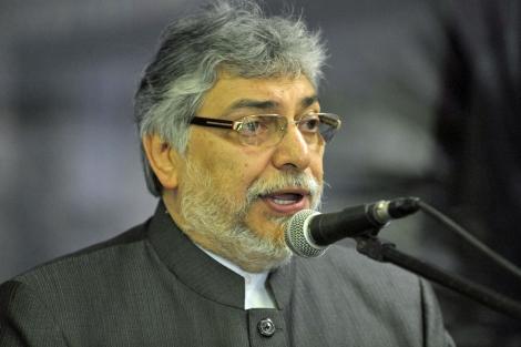 El presidente de Paraguay, Fernando Lugo, durante una comparecencia el 2 de junio. | Afp