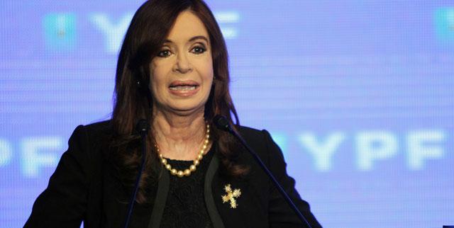 La presidenta argentina, Cristina Fernández, en una comparecencia el pasado día 6. | Efe