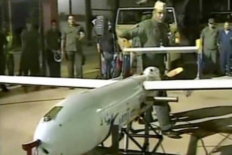 Fotos difundidas por la televisión de Venezuela de la fábrica de drones.  Afp