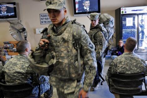 Soldados estadounidenses en una base de Afganistán. | Afp