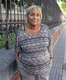 Sylvina Walger en Madrid.| Efe