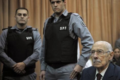 Jorge Videla, durante el último juicio. | Afp