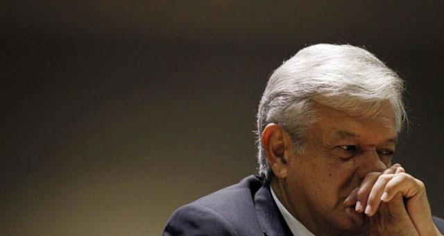 Andrés Manuel López Obrador en la rueda de prensa.| Reuters