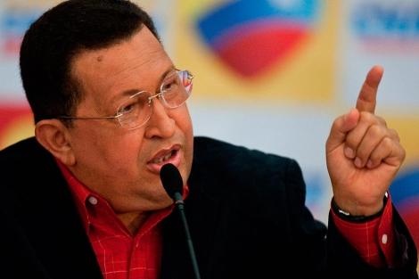 Chávez durante una conferencia el lunes en Caracas | Miguel Gutiérrez