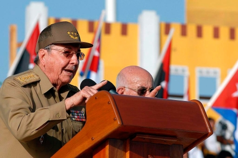 Raúl Castro en el 59 aniversario del asalto al cuartel de Moncada. | Juan Pablo Carreras/Efe