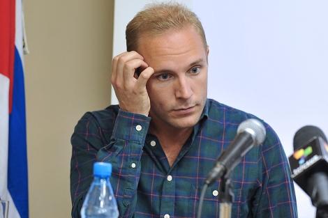 El sueco Jens Aron Modig durante la rueda de prensa en La Habana. | Afp