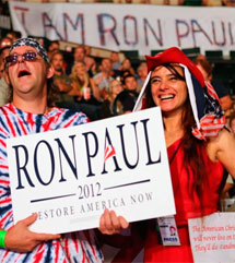 Seguidores de Ron Paul.| Afp