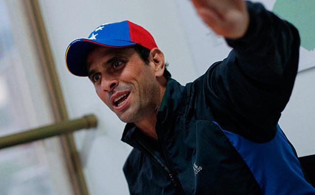 El candidato presidencial de la oposición venezolana, Henrique Capriles.| Efe/David Fernández