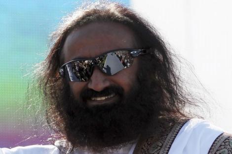 El líder espiritual Sri Sri Ravi Shankar.  Reuters