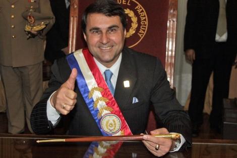 El presidente paraguayo, Federico Franco, tras asumir la presidencia. | Efe