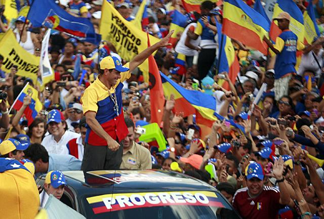 Manifestación en Caracas. | Foto: Reuters