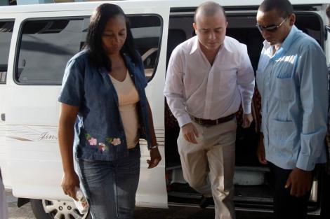 Ángel Carromero a su llegada al Tribunal.| Efe