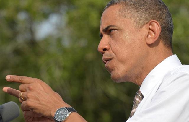 Obama, durante un mitin en Tampa (Florida).| Afp