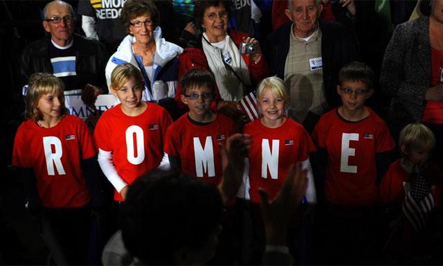 Seguidores de Romney en Des Moines. | AFP